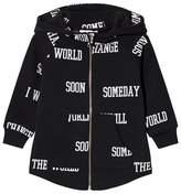 Someday Soon Black World Print Hoodie