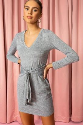 superdown Knot Front Mini Dress