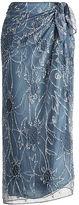 Polo Ralph Lauren Beaded Tulle Wrap Skirt