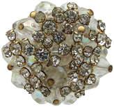 One Kings Lane Vintage Crystal Bead & Rhinestone Cluster Ring
