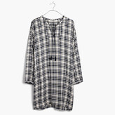 Madewell Plaid Artiste Tunic Dress