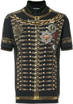 Dolce & Gabbana military jacket print polo shirt - men - Cotton - 52