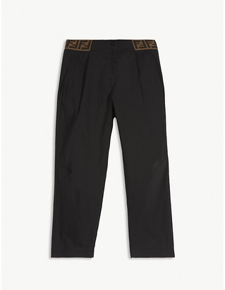 Fendi Logo waistband cotton-blend trousers 8-14 years