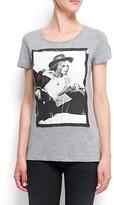 MANGO Photograph printed t-shirt