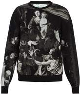 Off-White Caravaggio-intarsia cotton-blend sweater