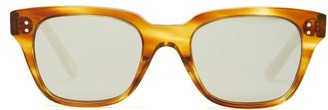 Celine Mirrored D-frame Acetate Sunglasses - Tortoiseshell