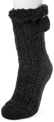 Betsey Johnson Non-Skid Faux Shearling Lined Cabin Socks