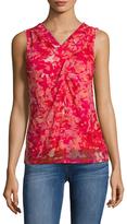 T Tahari Gisele Printed Sleeveless Top