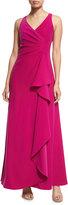 Armani Collezioni Sleeveless V-Neck Starburst-Pleated Gown