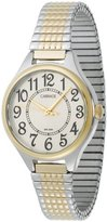 Timex Carriage Women's C3C367 Two-Tone Round Case White Dial Two-Tone Expansion Band Watch