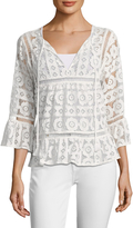 Plenty by Tracy Reese Women's Lace Cotton Blouse