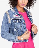Rachel Roy Embellished Cropped Denim Jacket, Created for Macy's