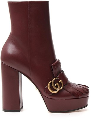 Gucci GG Marmont Heeled Ankle Boot