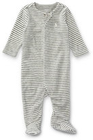 Ralph Lauren Velour Striped Footie Pajamas, Gray, Size Newborn-9 Months