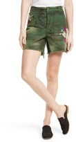 Free People Women's Camo Embroidered Scout Shorts