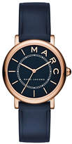Marc Jacobs Analog Roxy Rose-Goldtone Navy Leather Strap Watch