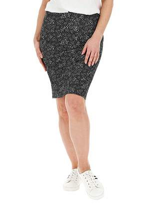 Marisota Spot Stretch Jersey Mini Tube Skirt