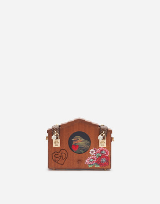Dolce & Gabbana Dolce Box Bag In Wood And Ayers