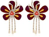 Shourouk Alcantara Flower Earrings