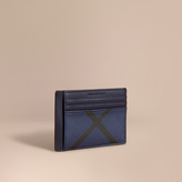 Burberry London Check Money Clip Card Case