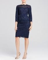 Tadashi Shoji Petites Three-Quarter Sleeve Lace Dress