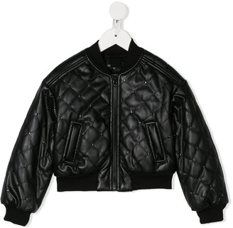 MonnaLisa Quilted Bomber Jacket