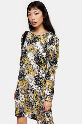 Topshop Womens Petite Floral Print Mini Dress - Multi