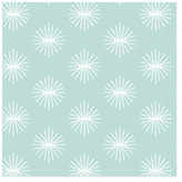 Minted starburst aster blooms Self-Launch Wrapping Paper