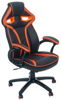 ViscoLogic Series APOLLO Gaming Racing Style Height Adjustable 360 Swivel Leatherette Upholstered Thick Padded Home Office Chair