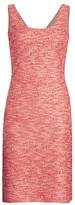 St. John Beaded Confetti Tweed Sleeveless Knit Dress
