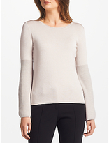Marc Cain Flared Sleeve Metallic Jumper, Sandstone