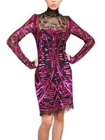 Emilio Pucci Sequins Embroidery On Viscose Lace Dress
