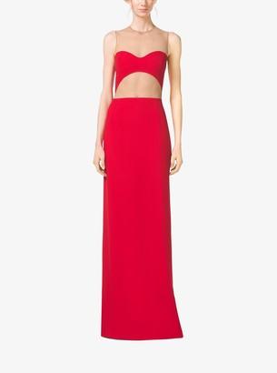 Michael Kors Bustier Illusion Double Crepe-Sable Gown