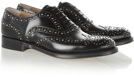 Church's The Burwood studded leather brogues