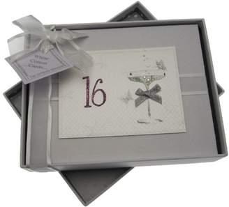 16th Birthday, Small Photo Album, Coupé Glass