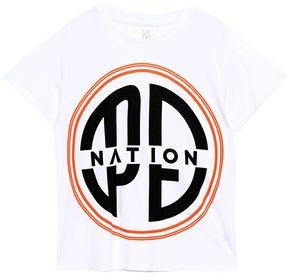 P.E Nation Printed Cotton-jersey T-shirt