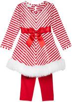 Bonnie Jean 2-Pc. Striped Santa Dress & Leggings Set, Toddler Girls (2T-4T) & Little Girls (4-6X)