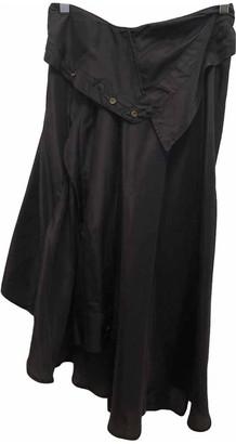 Faith Connexion Black Silk Skirt for Women