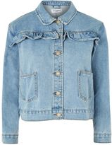 Glamorous Petites **Ruffle Detail Denim Jacket by Glamorous Petite