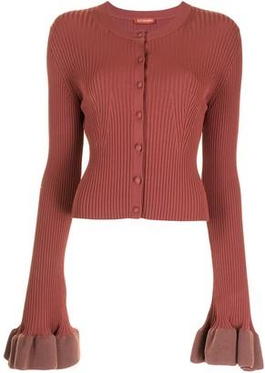 Altuzarra Ribbed-Knit Button-Fastening Cardigan