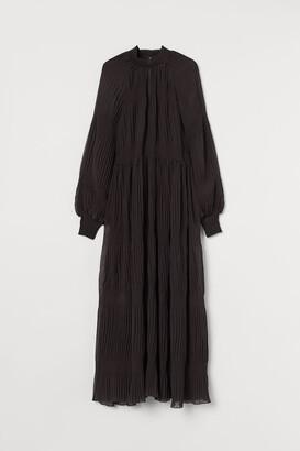 H&M Smocked Long Dress - Brown