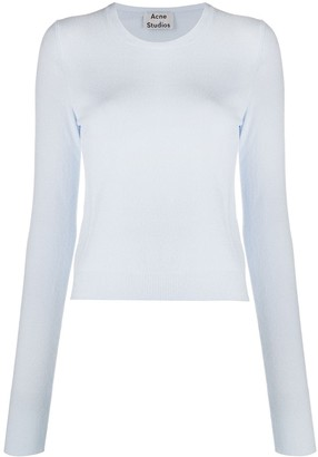 Acne Studios Crew Neck Cropped Jumper