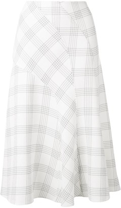 Cédric Charlier Checked Flared Skirt