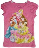 "Disney Little Girls Princess ""Pet Party"" Floral Print T-Shirt"