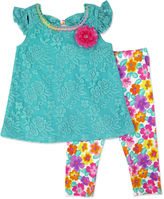 Nanette Baby Lace Top and Leggings - Preschool Girls 4-6x