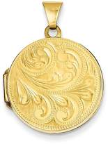Bijou 14k 20MM Scroll Hand Engraved Locket