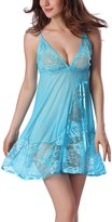 ZAMME Women's Lingerie Strap Nightwear Sleepwear Dress Set with G-String