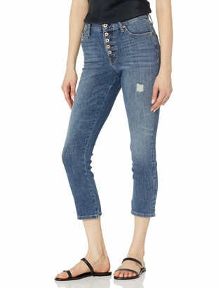 Ella Moss Women's High Rise Slim Straight Crop Jean