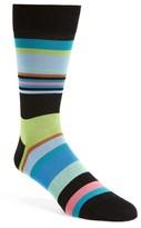 Bugatchi Men's Stripe Crew Socks