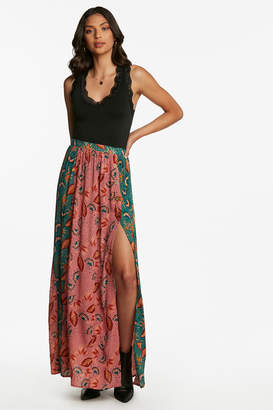 Patrons Of Peace Patchwork Maxi Skirt
